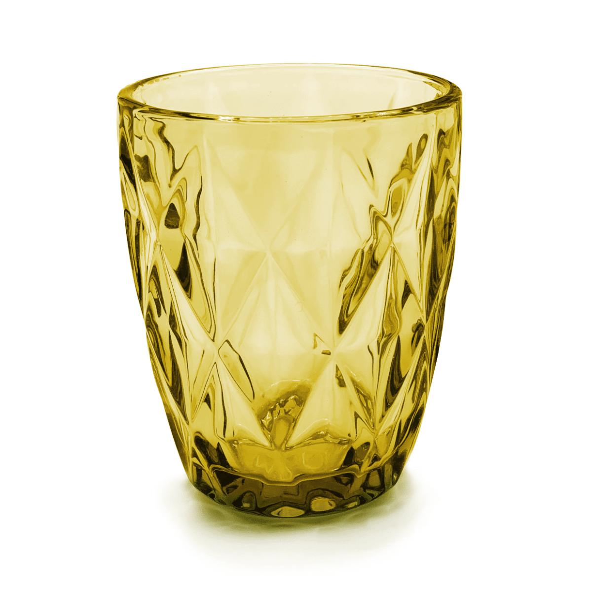 Vaso cristal labrado ambar