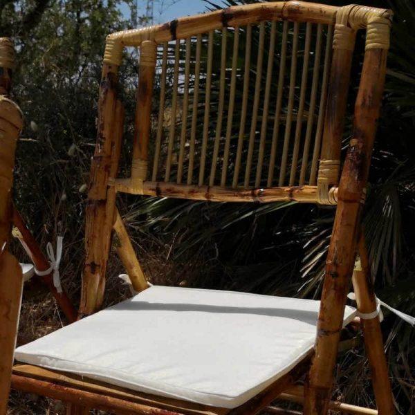 Cojín Silla Bambú