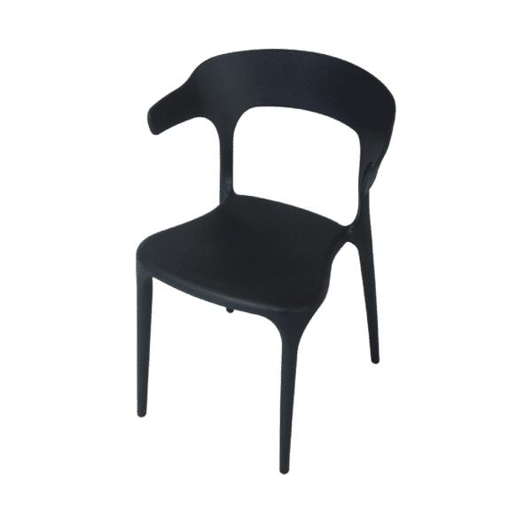 silla-arco-resina-negra